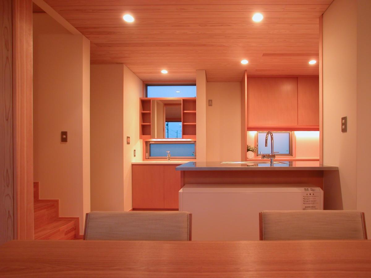 和田の家(松本市)-食堂~洗面・台所
