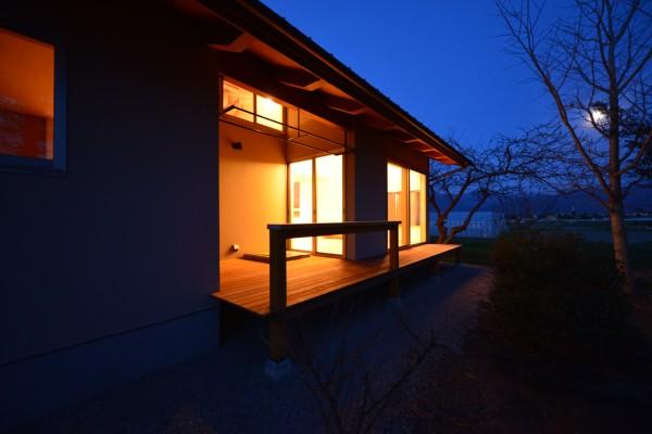 松本市 島立の家Ⅱ インナーデッキ 長野県松本市の建築設計事務所 建築家 丸山和男 現場監理 住宅
