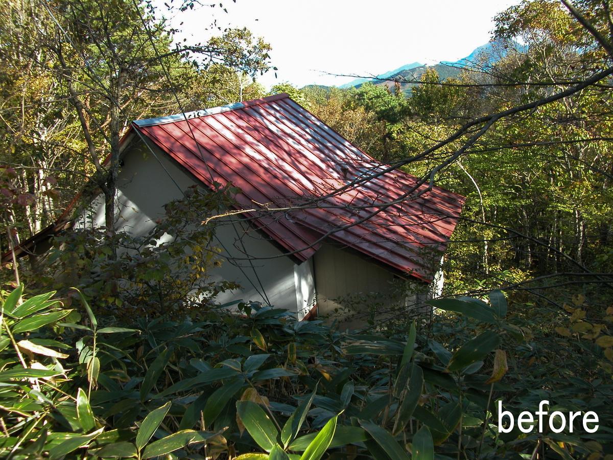 聖高原の山荘(麻績村)-外観(before)