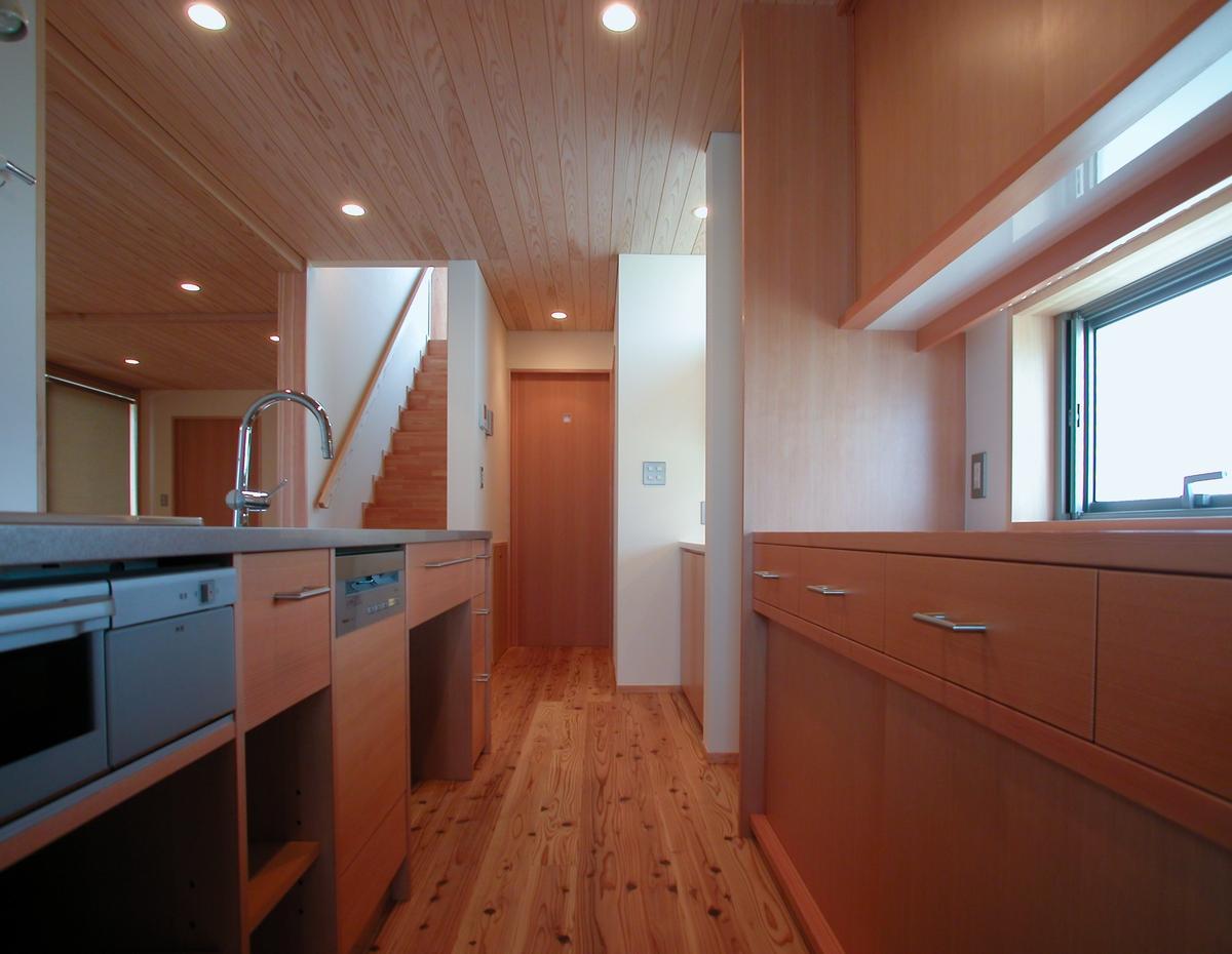 和田の家(松本市)-台所・オリジナルキッチン