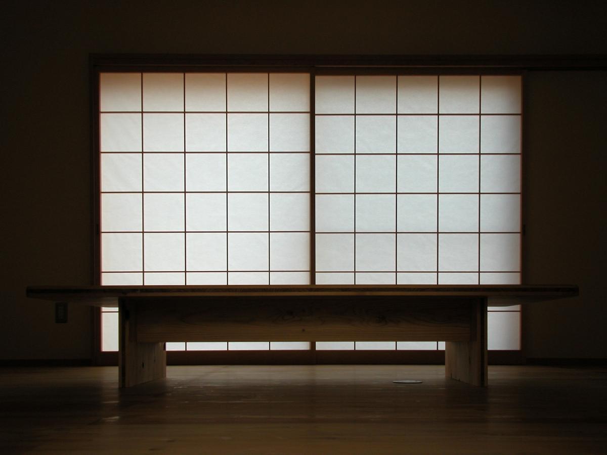 光の家(安曇野市)-居間・食堂
