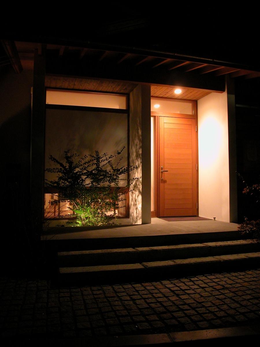 カフェあくら(松本市)-外観夜景