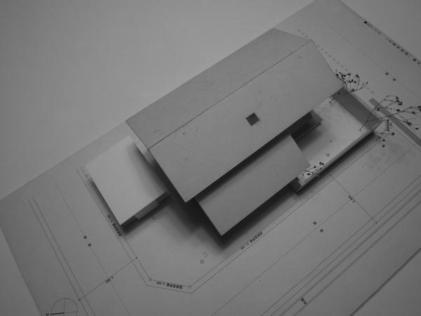梓川の家Ⅰ車庫計画模型 長野県松本市の建築設計事務所 建築家