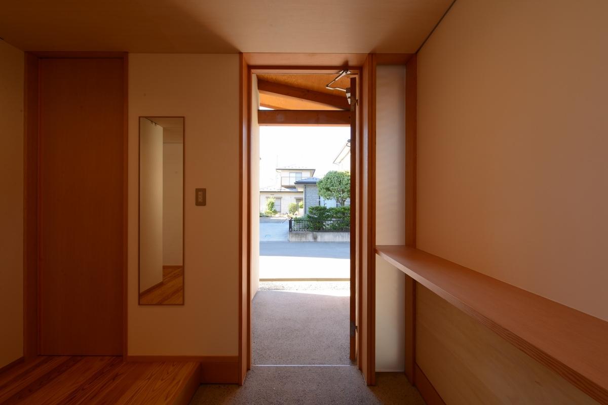 明科光の家(安曇野市)-玄関