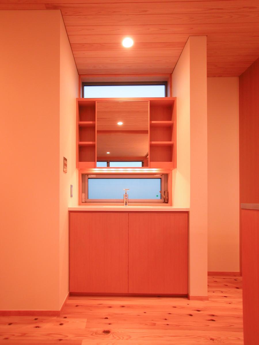 和田の家(松本市)-独立型洗面