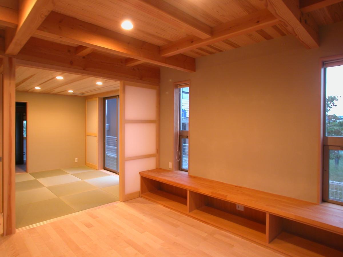 高田の家(長野市)-居間~和室