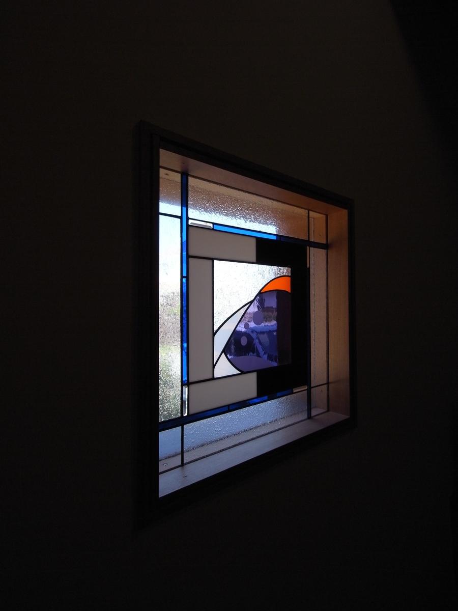 梓川の家Ⅰ(松本市)-アトリエ(ネイルサロン)ステンドグラス