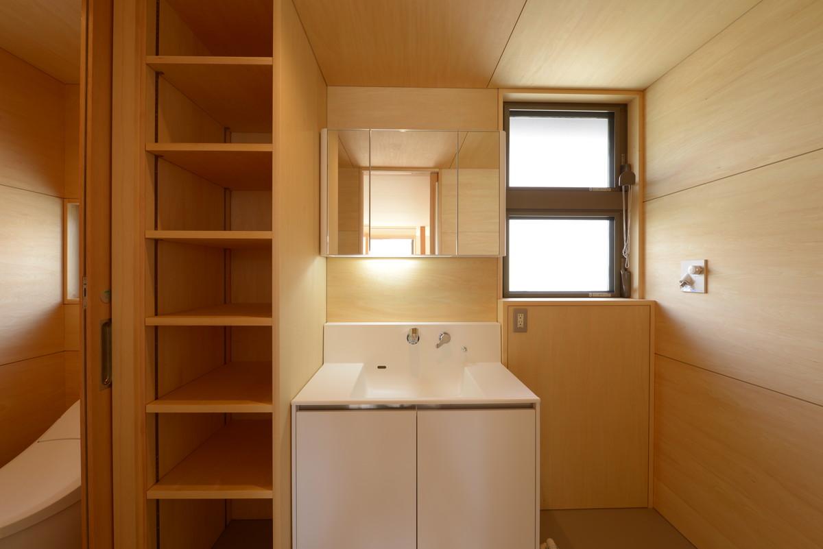 大町の家Ⅱ(大町市)洗面脱衣洗濯室