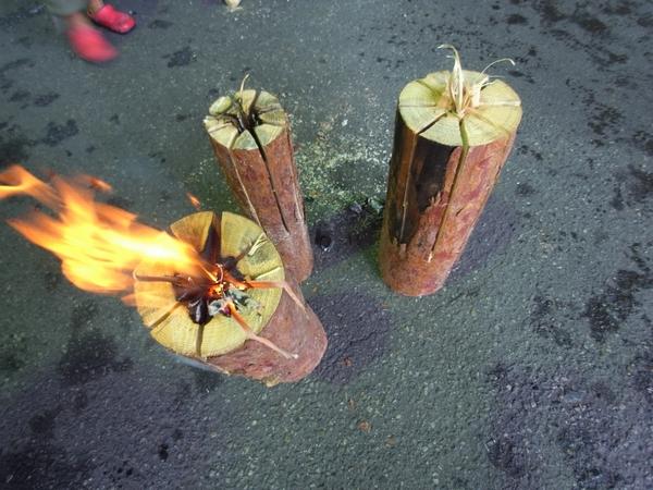 ウッドキャンドル・木こりのろうそく・木のろうそく・スウェーデントーチ 長野県安曇野市 長野県産材 松くい虫 被害木