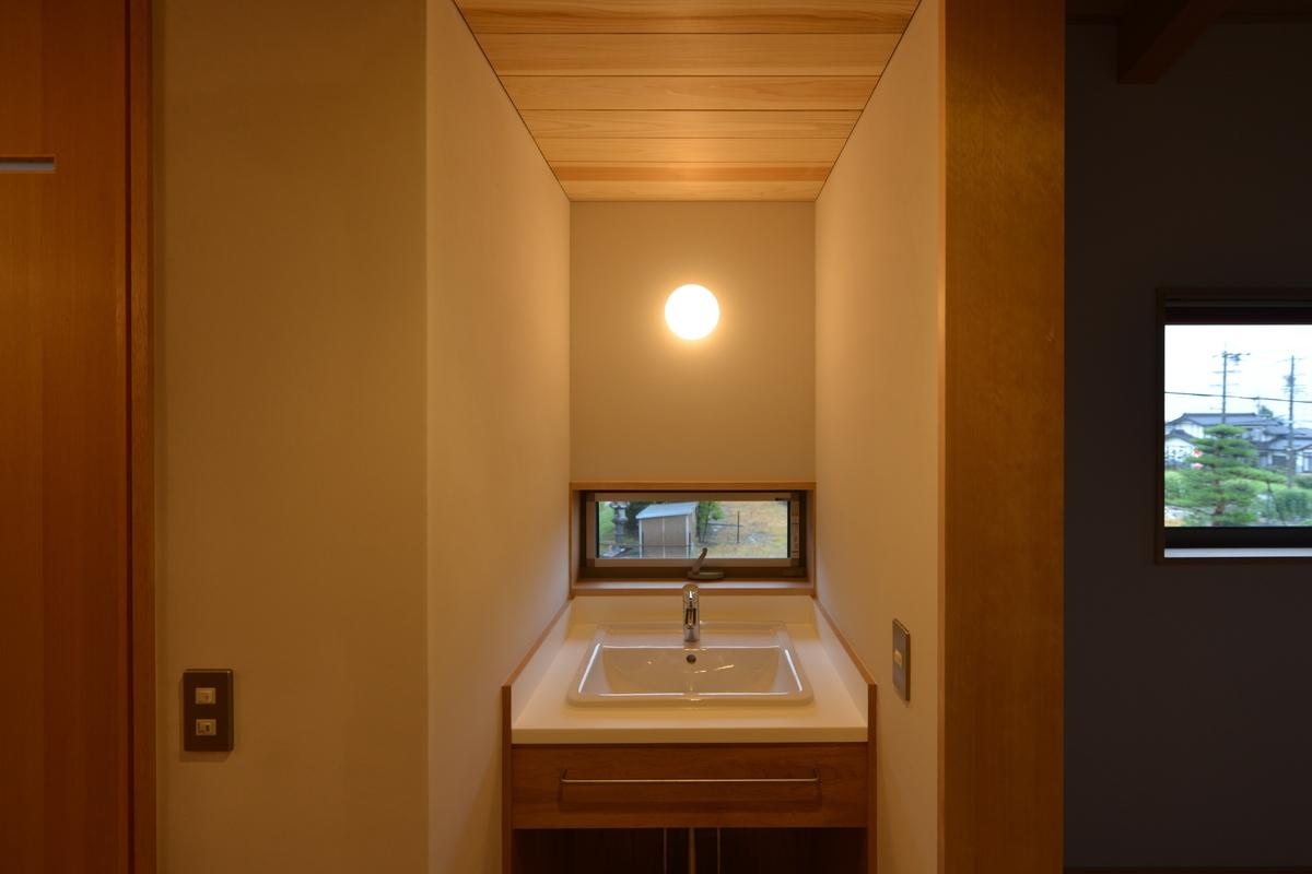 山形の家(山形村)-2階手洗い