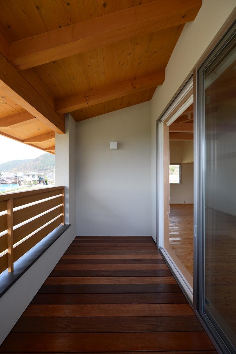 里山辺の家(松本市)-子世帯ベランダ