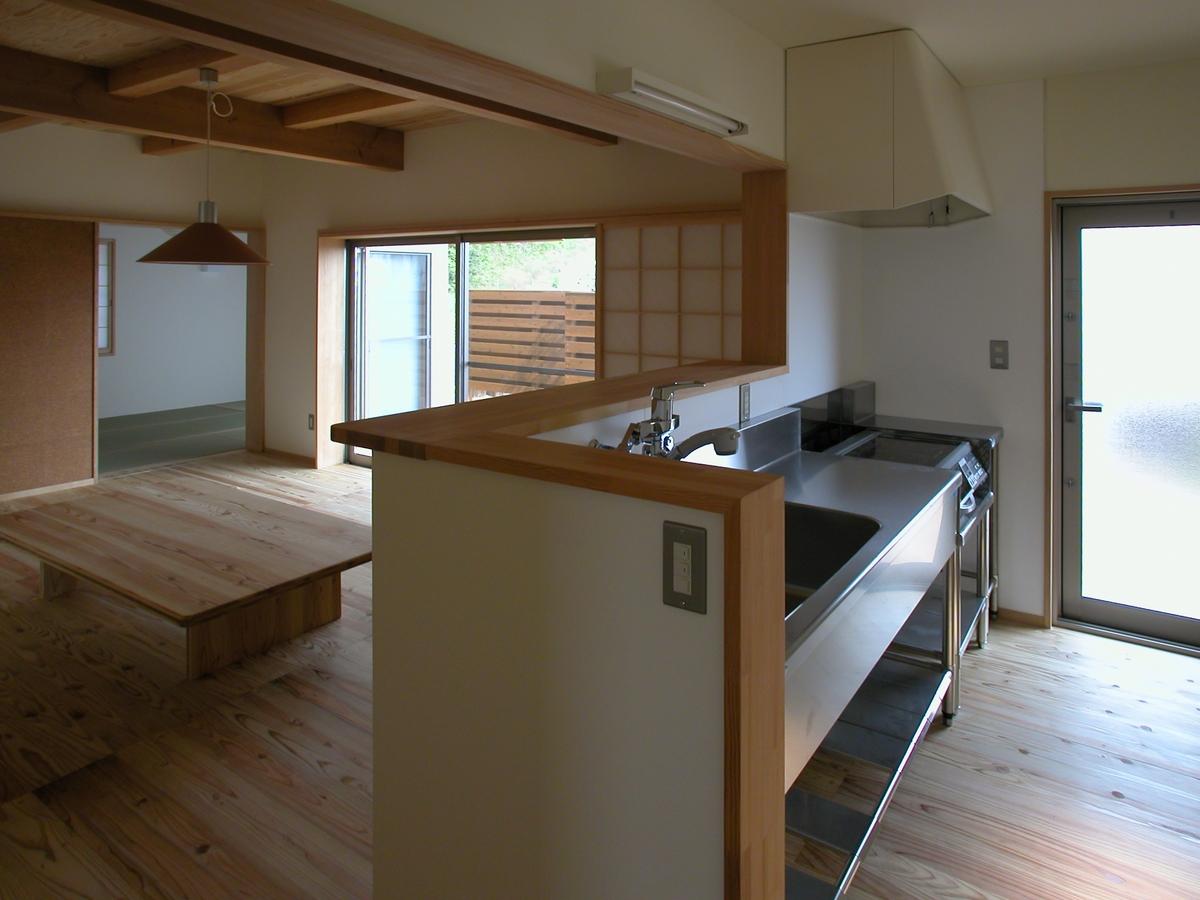 光の家(安曇野市)-台所(業務用キッチン)