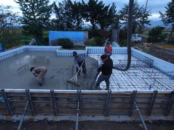 松本市 島立の家Ⅱ 基礎工事 長野県松本市の建築設計事務所 建築家 丸山和男