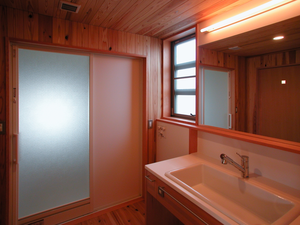 中条の家Ⅰ(松本市)-洗面脱衣室