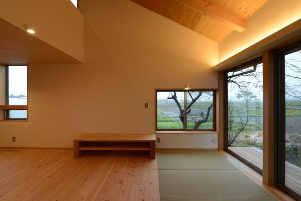 松本市 島立の家Ⅱ 畳敷き込 長野県松本市の建築設計事務所 建築家 丸山和男 現場監理 住宅