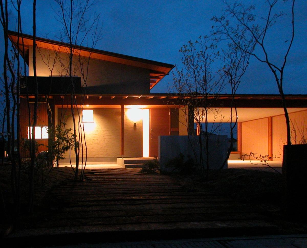 和田の家(松本市)-外観・夜景