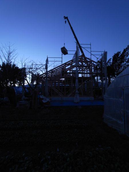 松本市 島立の家Ⅱ 建て方 長野県松本市の建築設計事務所 建築家 丸山和男 現場監理 住宅