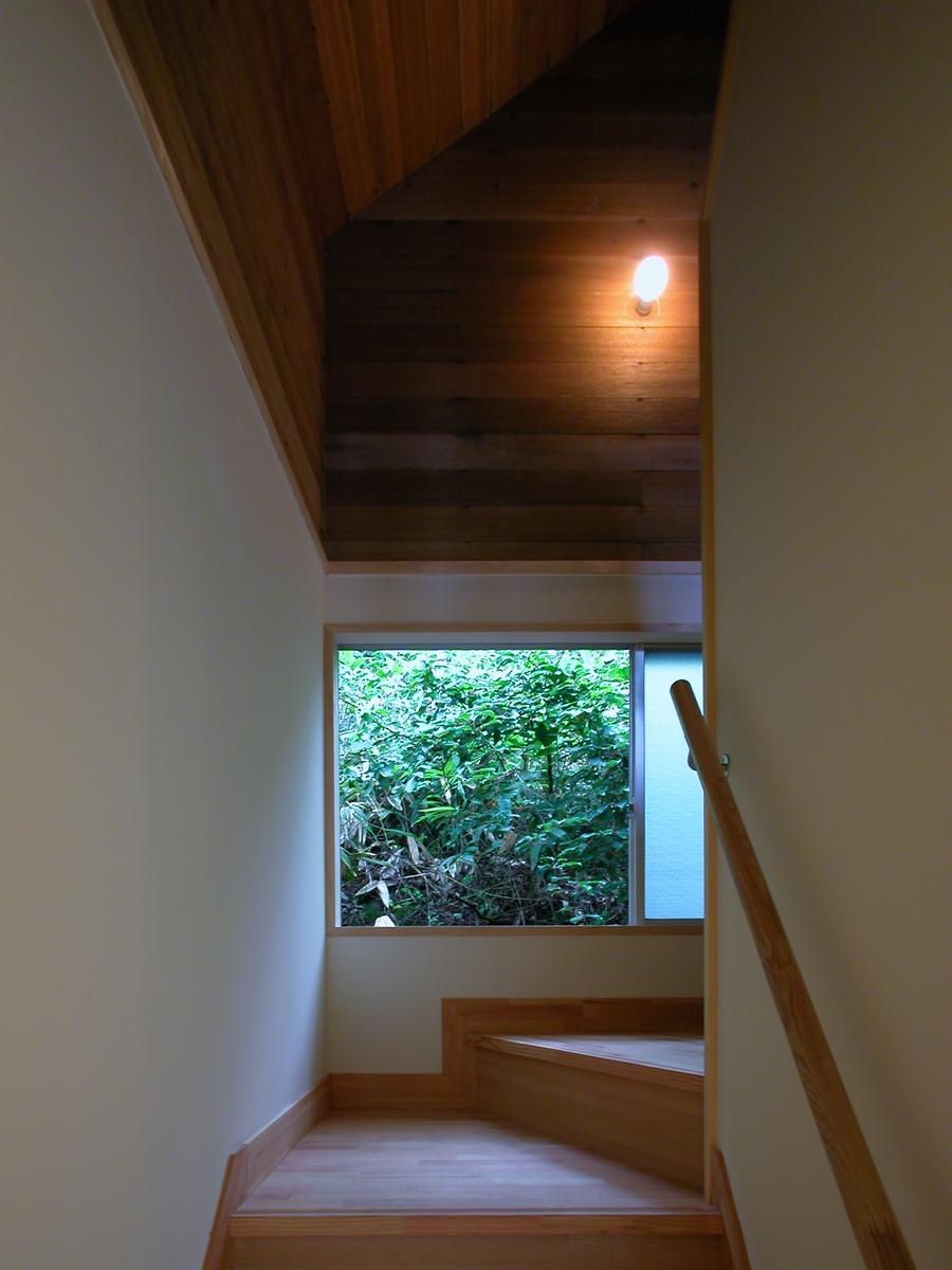 聖高原の山荘(麻績村)-階段(after)