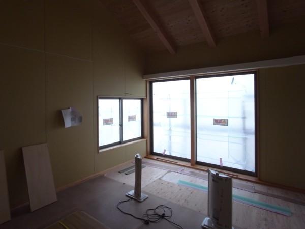 松本市 島立の家Ⅱ 大工工事終了 長野県松本市の建築設計事務所 建築家 丸山和男 現場監理 住宅