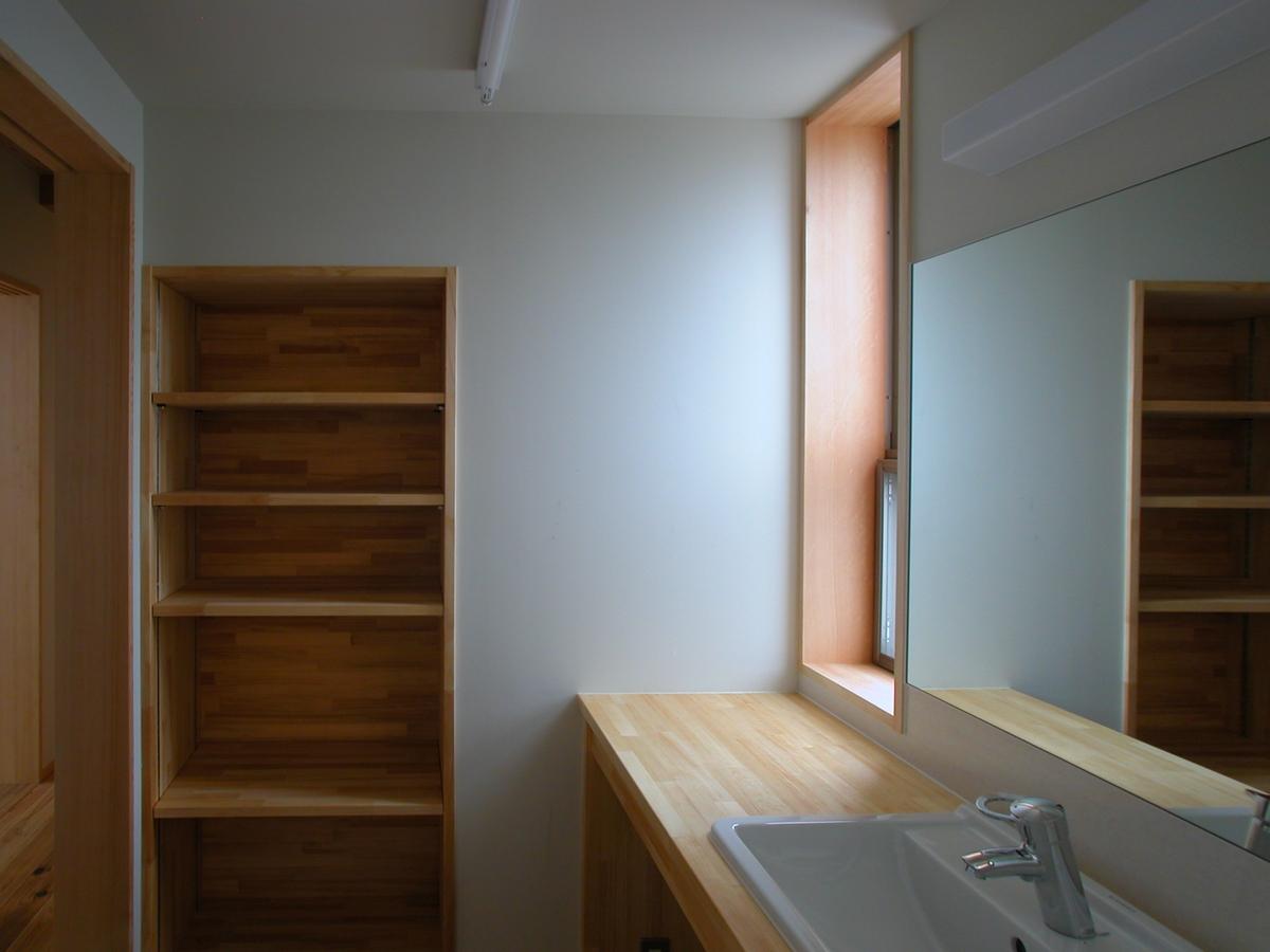 片丘の家Ⅰ(塩尻市)-洗面脱衣室