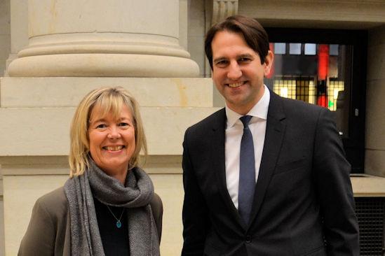 Andreas Jung mit der rheinland-pfälzischen Finanzministerin Doris Ahnen (SPD)