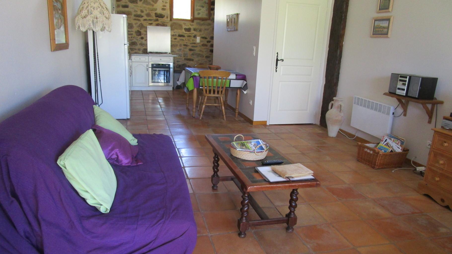 pièce à vivre,Gîtes et chambre d'Hôtes Peyrecout Tarn Cordes Albi