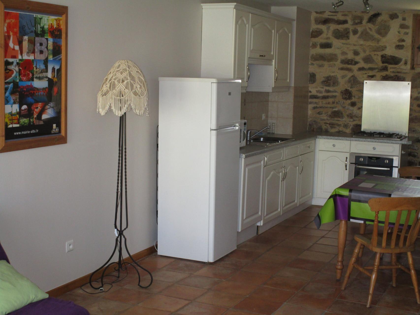 coin cuisine Gîtes et chambre d'Hôtes Peyrecout Tarn Cordes Albi