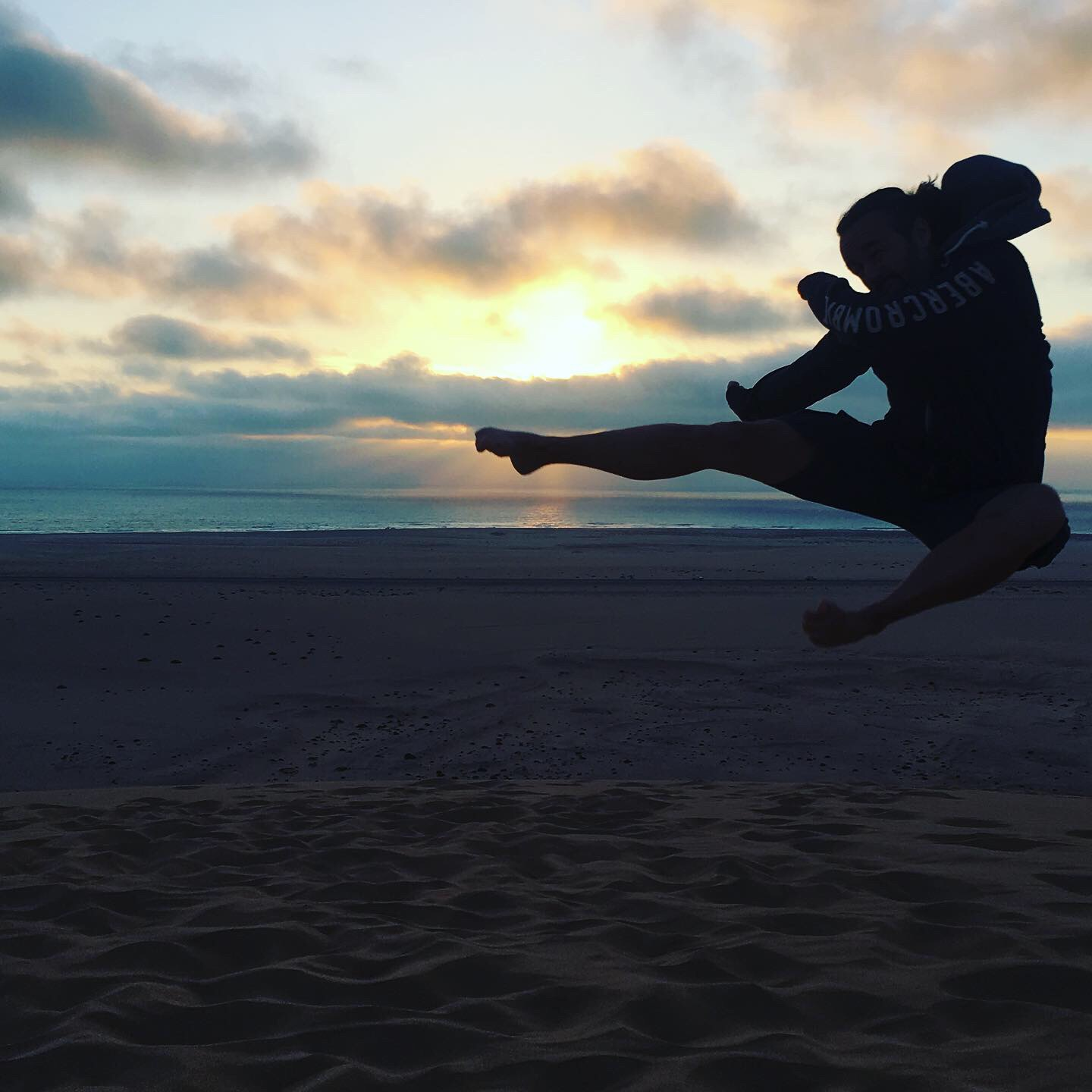 Flying at the beach