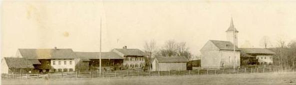 Bruck, Pfarrei Neukirchen, mit der Kapelle St. Rupertus - aufgenommen um 1920