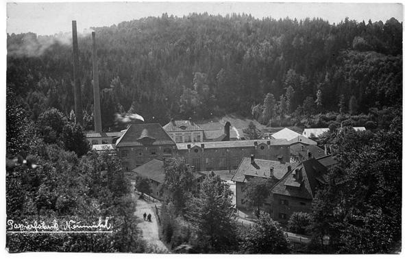 Papierfabrik Neumühl bei Thalham. Bildarchiv AK Geschichte