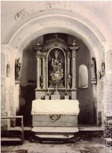 Ein Bild aus dem Jahre 1958 während der Restaurierung des Kirchleins.