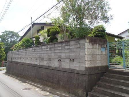 ブロック塀解体1