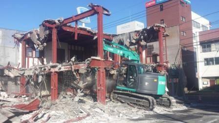 鉄骨造店舗の解体工事