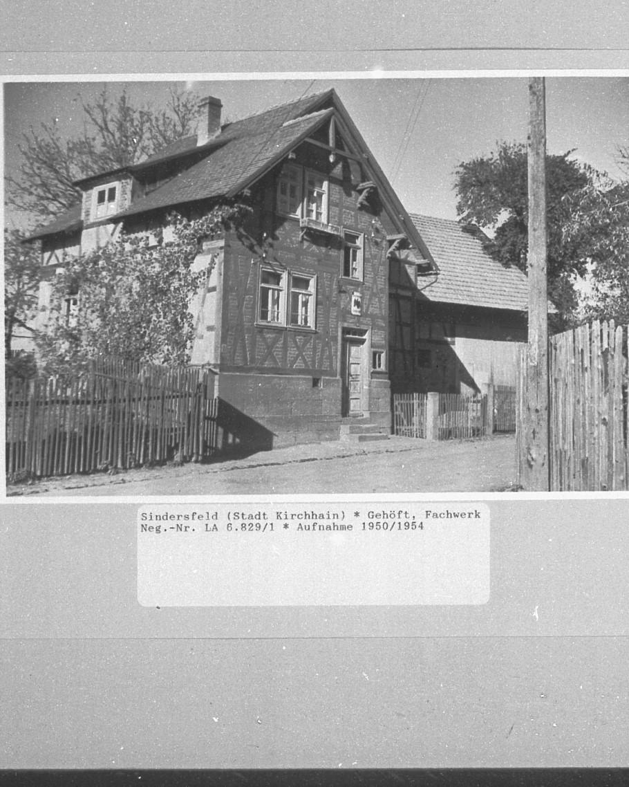 Gehöft, Aufnahme von 1950/54