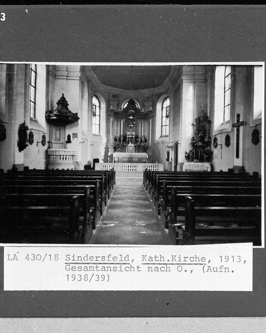 Gesamtansicht der Kirche von Innen aus dem Jahre 1938/39
