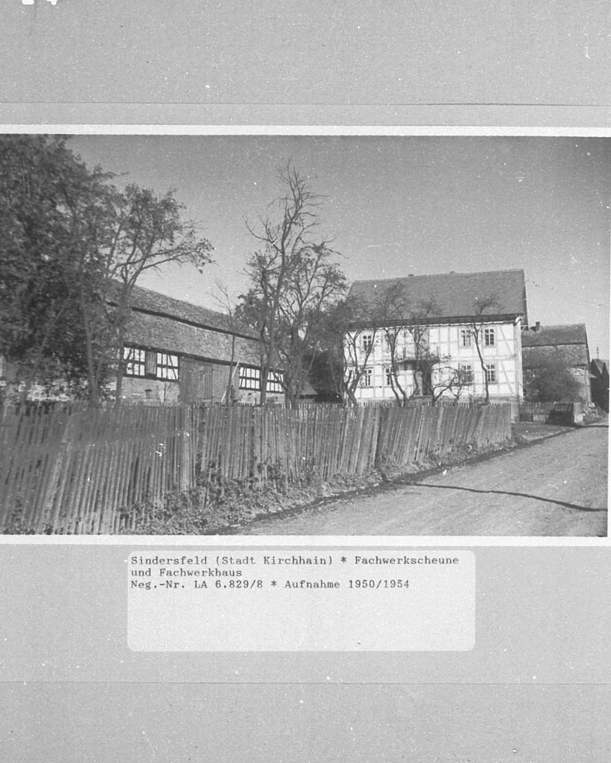 Fachwerkscheune, Aufnahme von 1950/54