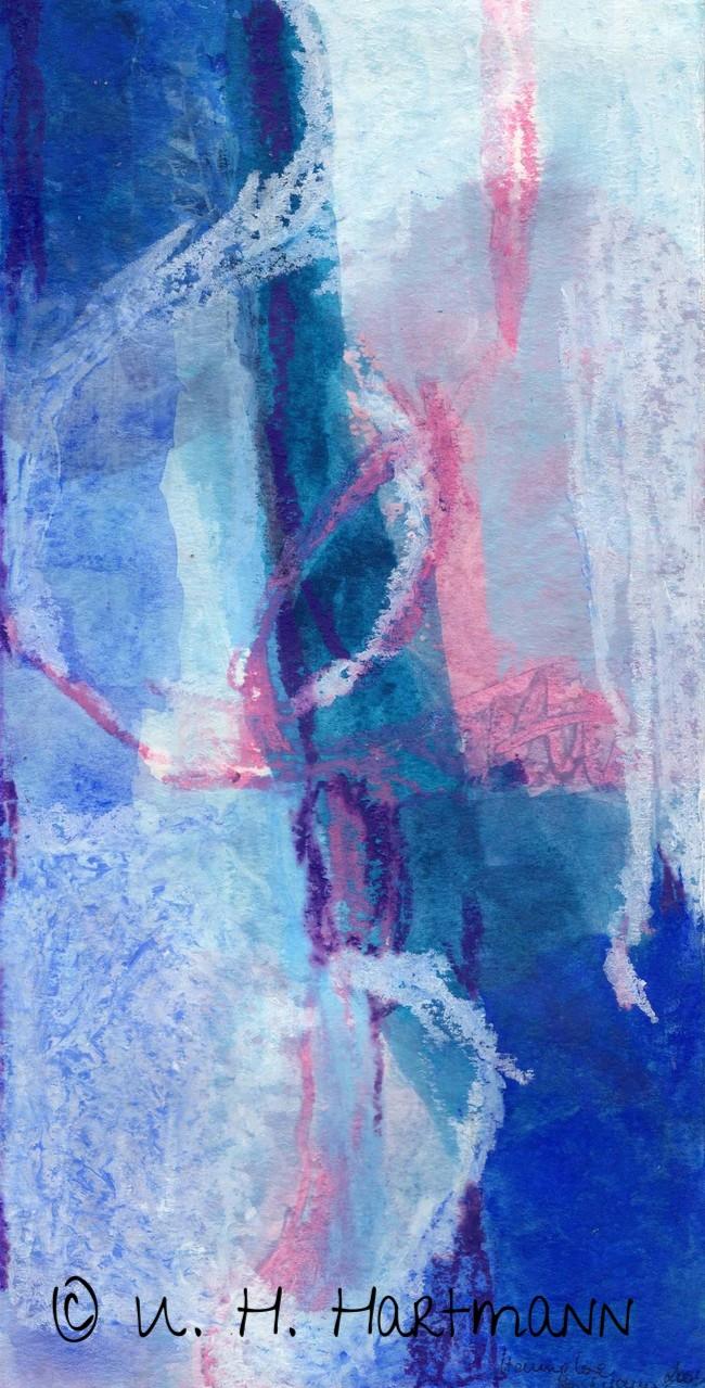 """Meditation II""  Guache, Kreiden auf Papier, 40 x 50"