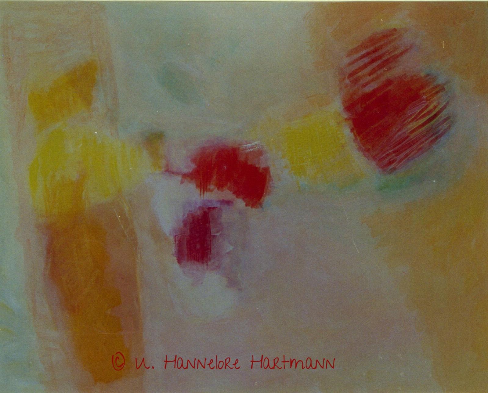 """""""I feel an inner Space"""" Acryl, Pigmente auf Nessel, Ölkreide, 80 x 100, mit Schattenfugenleiste"""