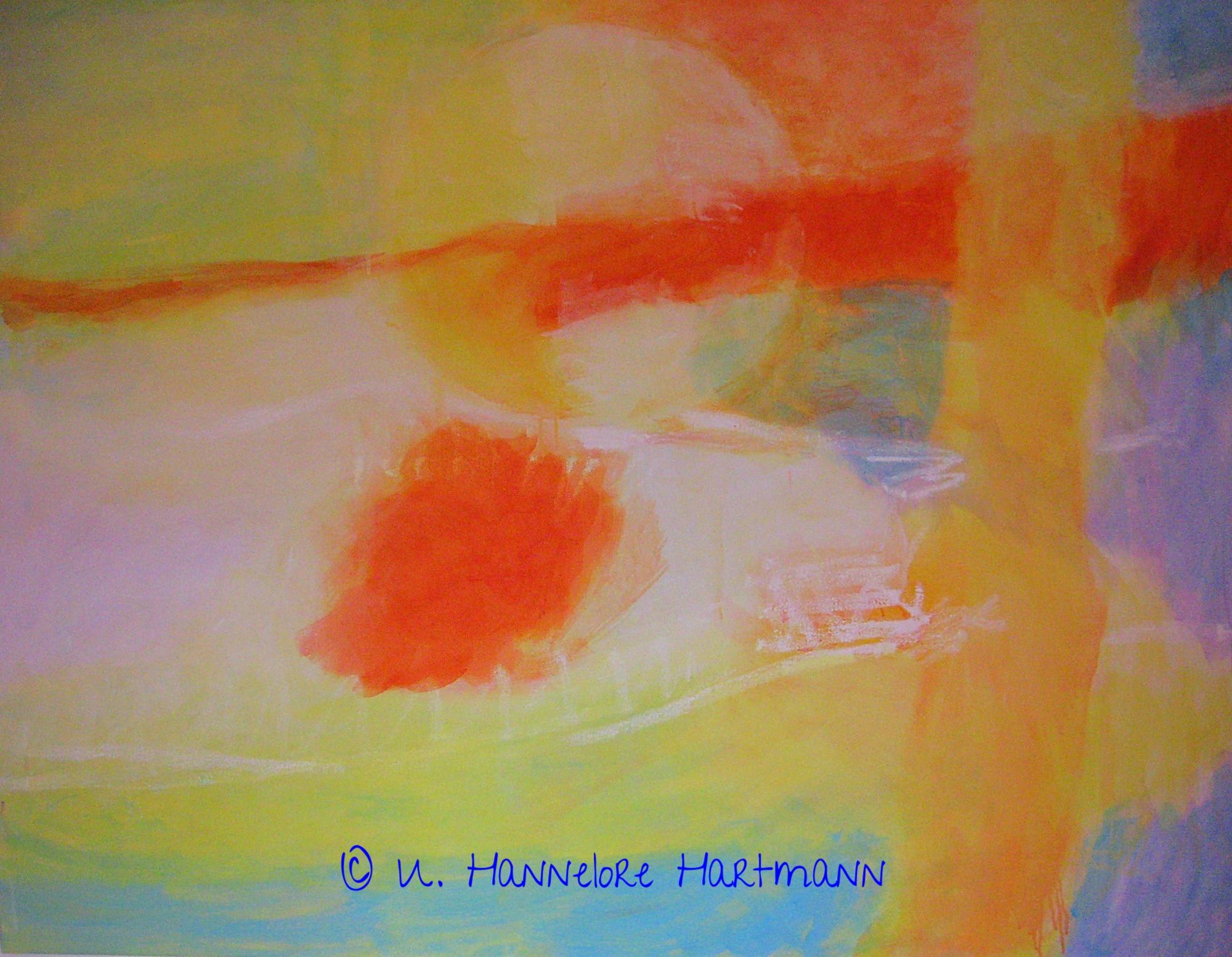 """""""I feel an inner Landcape"""" Acryl, Pigmente auf Nessel, Ölkreide, 110 x 140"""