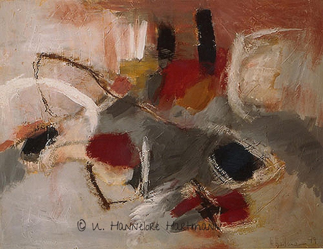 """Ohne Titel""  Acryl, Pigmente,Ölkreide auf Nessel, 80 x 100, mit Kupferrohrahmen"