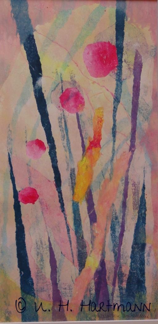 """""""Garten"""",  Monotopie auf Papier, 40 x 20"""