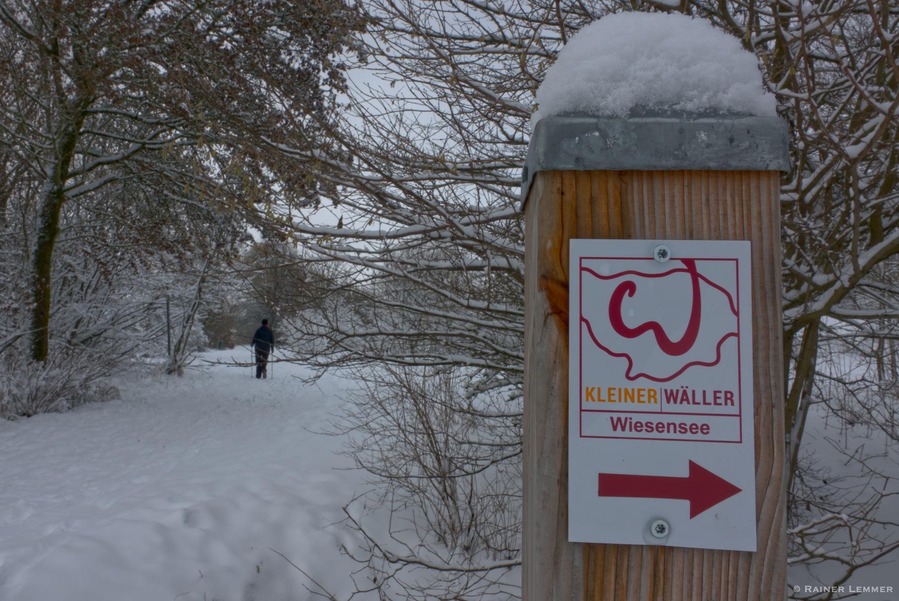 6 km Winterspaziergang Kleiner Wäller Wiesensee