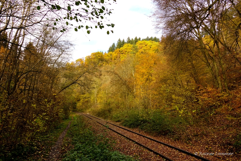 Die alte Brexbach Bahntrasse