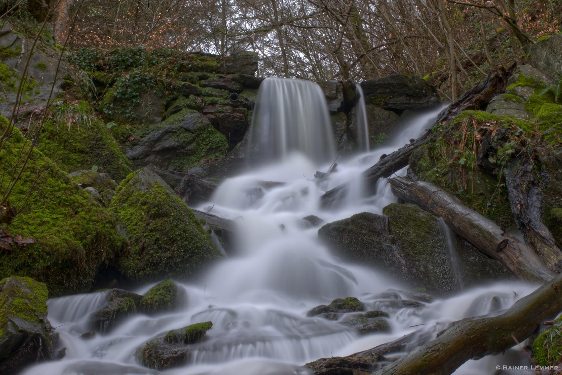 8 km Wanderung zum Laubach Wasserfall