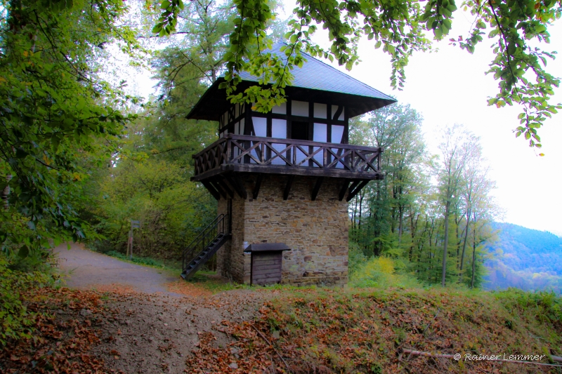 Römerturm Rekonstruktion auf dem Pulverberg