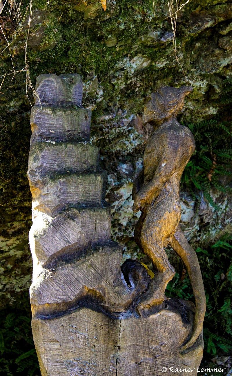 Holzskulptur Wäller-Traumtour Eisenbachtal