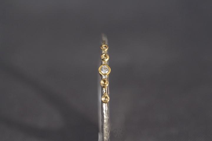 Brillant, 900er Waschgold, 935er Silber