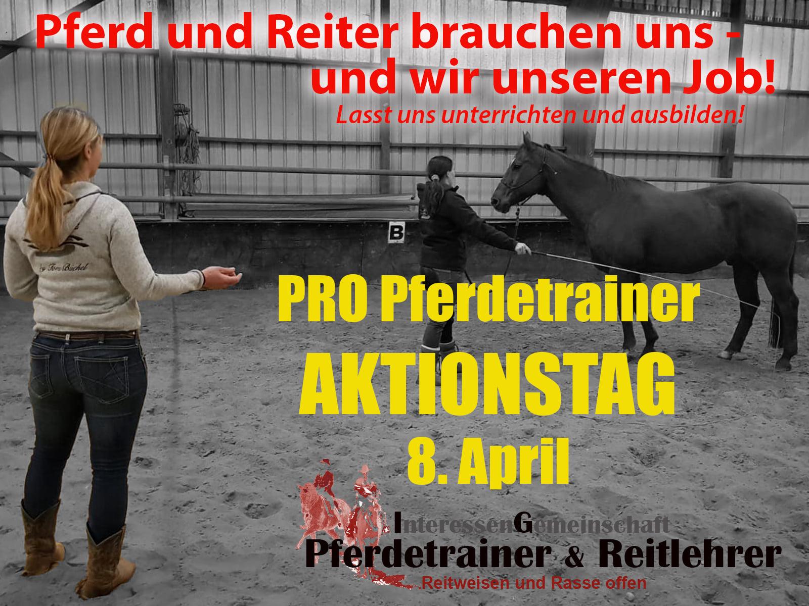 #AktionstagPferdetrainer am 08.04.2021