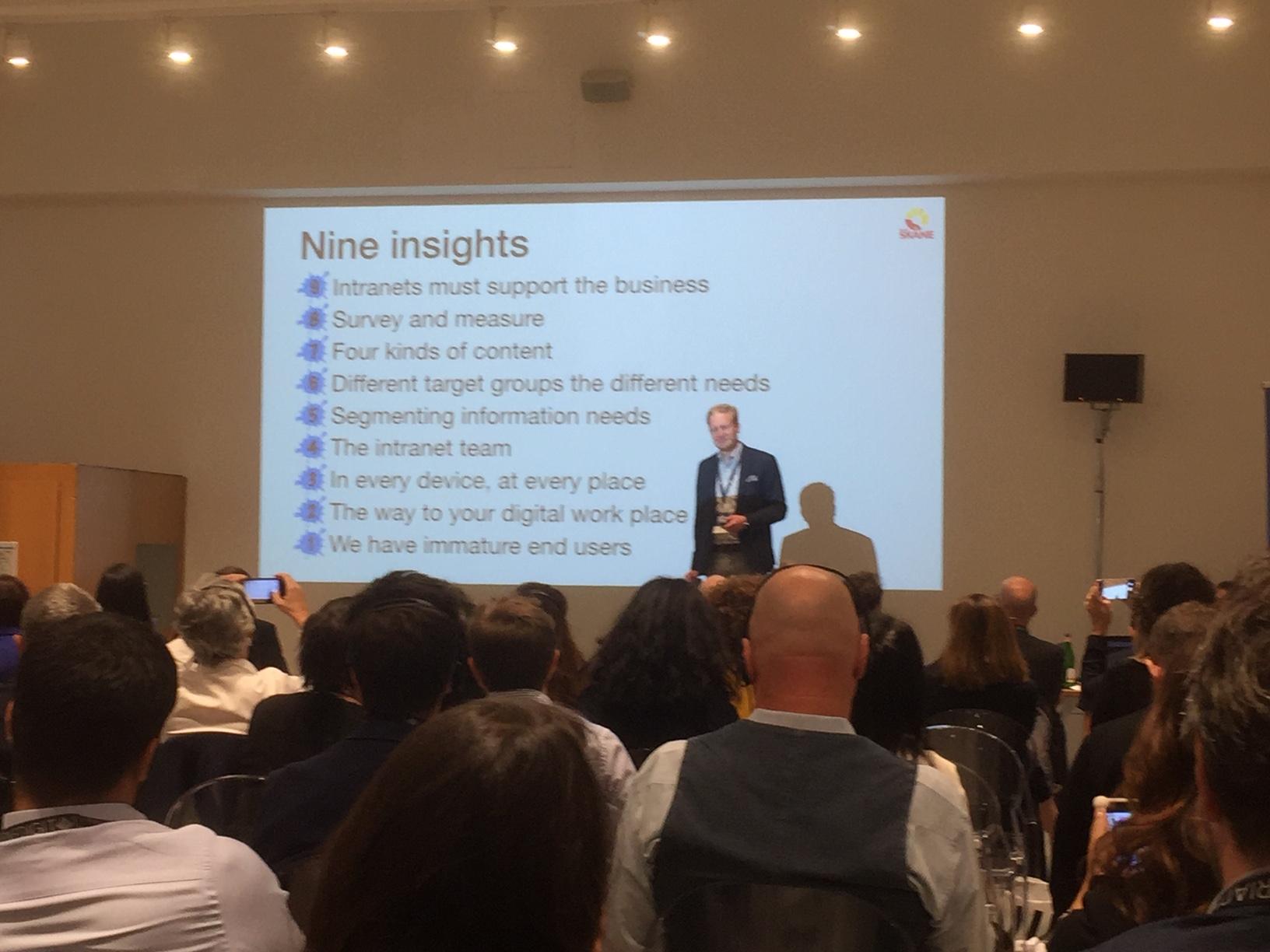 Jesper Bylund aus Schweden präsentierte seine Erkenntnisse aus einem grossen regionalen Intranet für die öffentliche Hand.