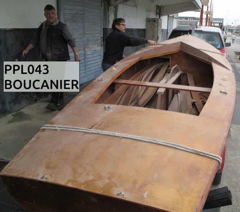 Le Boucanier à son arrivée à l'atelier de l'AAMMLR